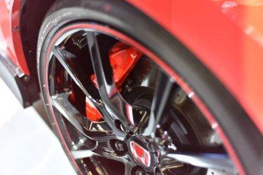 Frankfurt, Germany, September 09-2019: Honda Civic Type-R IAA 2019