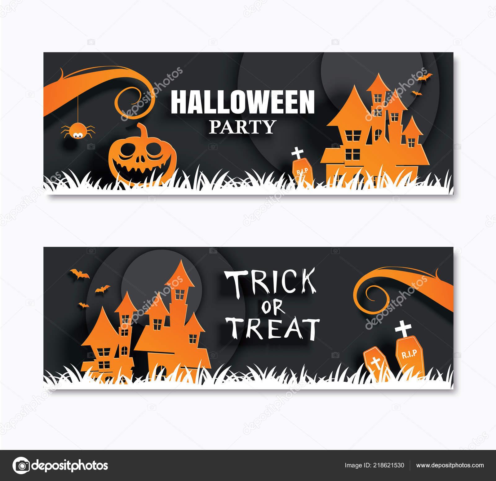 Halloween Party Transparent Zaproszenia Kartki życzeniami Sztuka Tło