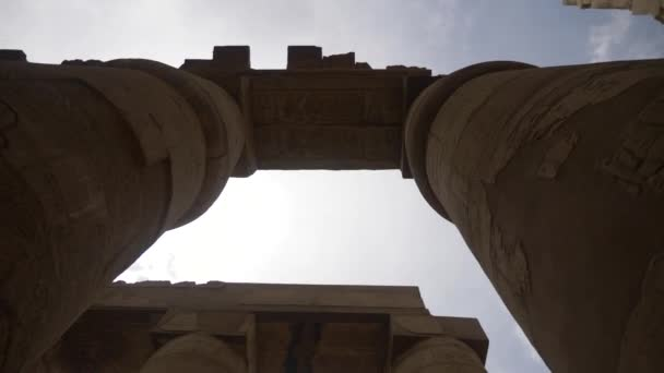 Big columns in Karnak temple in luxor