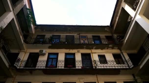 Old Inner Apartments Building Tilt