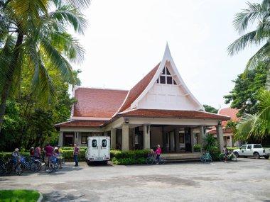 Orange gable roof,At Sri Nakhon Khuean Khan Park and Botanical Garden in Bangkok Thailand