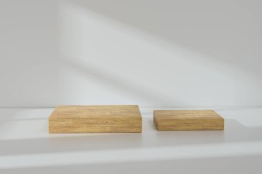 the platform for product presentation in a empty room, 3d render