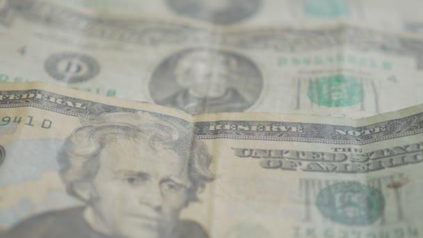hromadu dolaru papír bankovky, detail