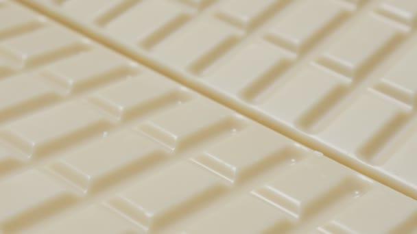 bílé sladké čokoládové tyčinky, zblízka