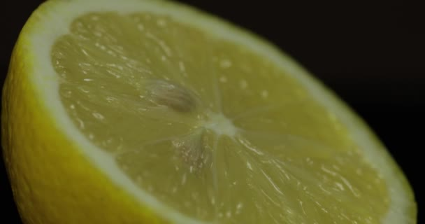 Delicious lemon cut for squeezing fresh juice. Lemon half