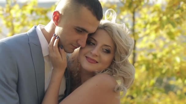 Wedding couple. Lovely groom and bride. Happy family. Man and woman in love