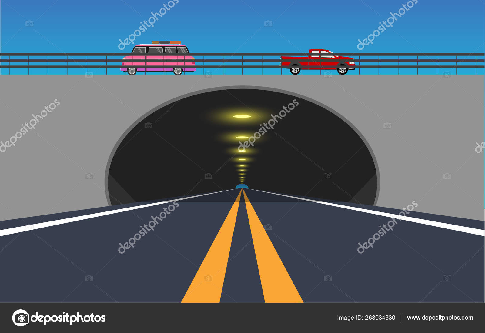 view road tunnel road ⬇ vector image by © aekaek55555555@gmail.com | vector  stock 268034330  depositphotos