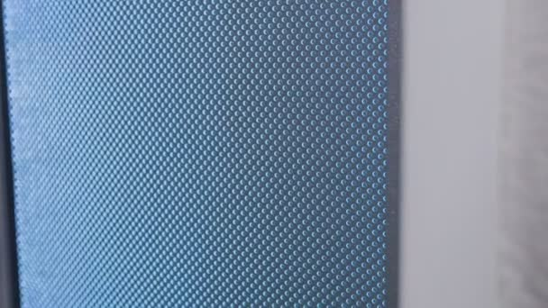 close-up shot of surface of modern door in store
