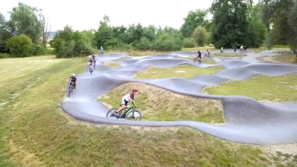 DOMZALE, SLOVENIA - 29. AUGUST 2015; JUNIOR AMATEUR PRACTICE. active young people riding on track