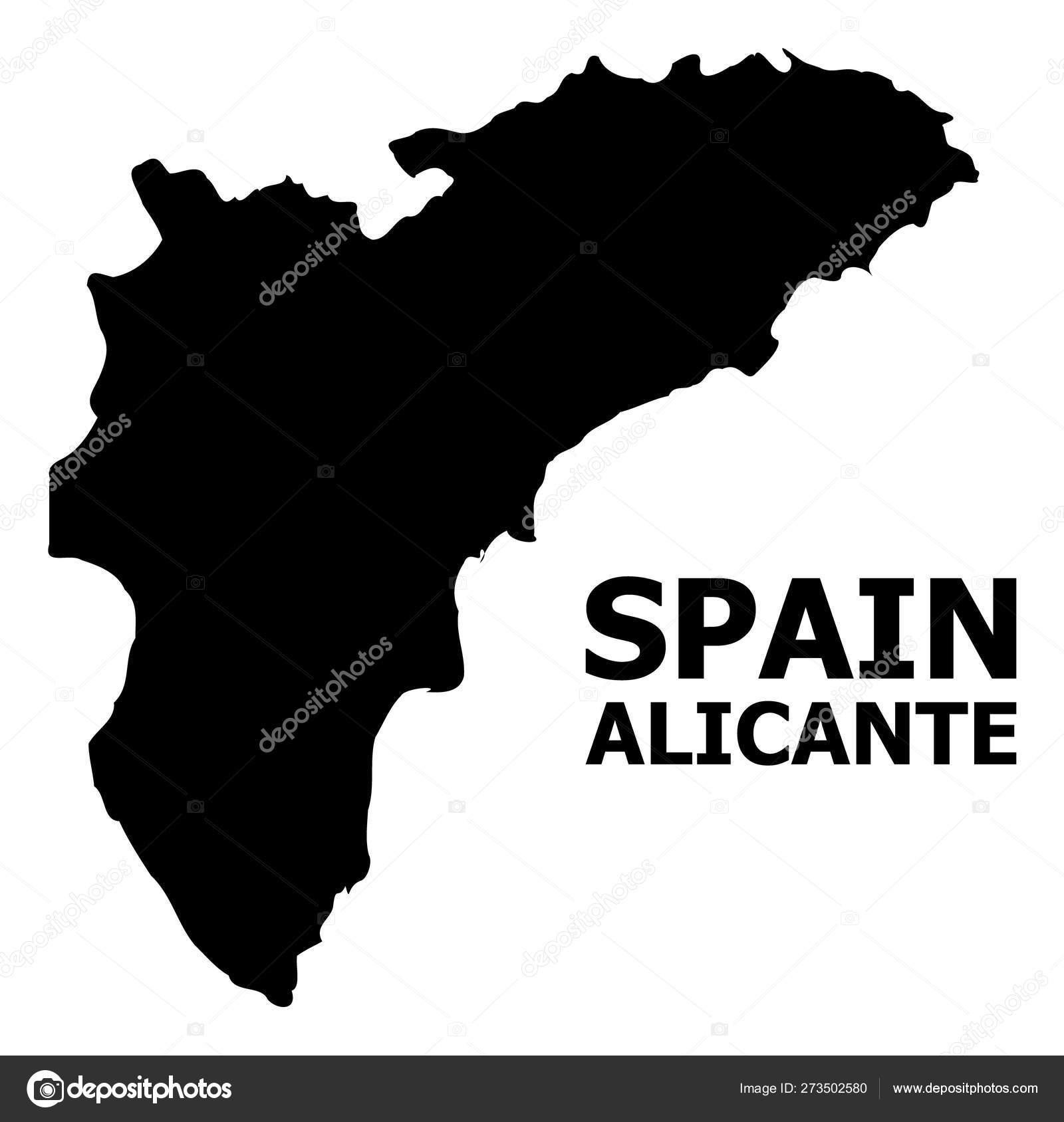 Mapa Provincia De Alicante.Mapa Plano Vectorial De La Provincia De Alicante Con
