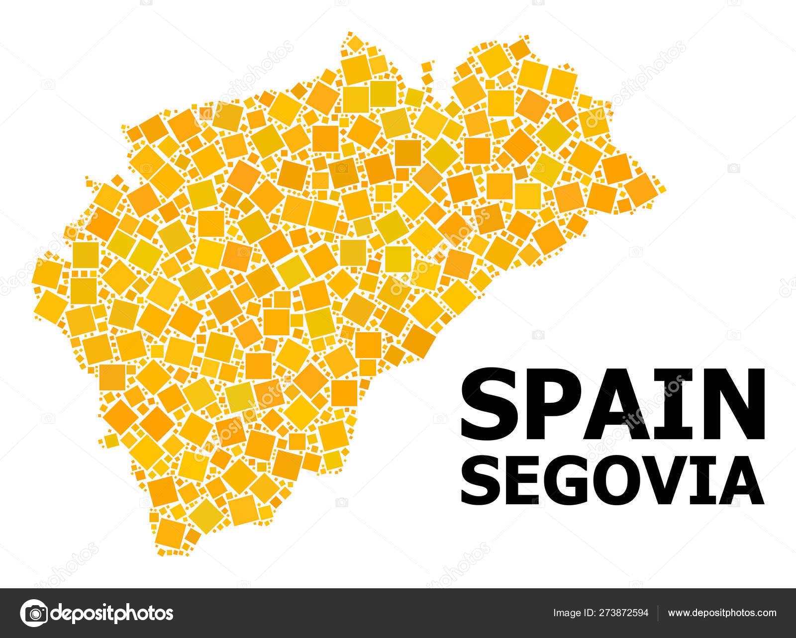 Provincia De Segovia Mapa.Mapa De Patron De Plaza Rotada De Oro De La Provincia De