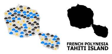 Weather Pattern Map of Tahiti Island
