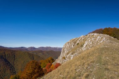 Monte Amaro.  It is part of the Majella, the second highest mountain massif in the continental Apennines after the Gran Sasso, in the central Apennines of Abruzzo.