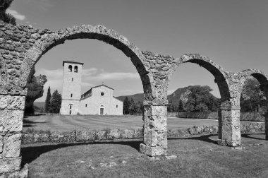 Rocchetta a Volturno, Isernia, Molise. Benedictine Abbey of S. Vincenzo al Volturno. Historic Benedictine abbey located in the territory of the Province of Isernia, in the Upper Volturno Valley.