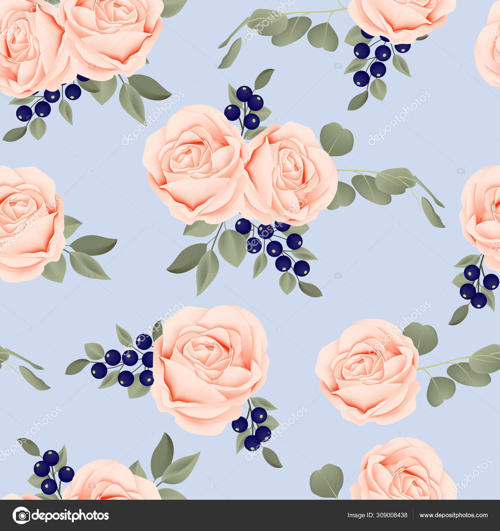 Modern Floral Pattern Fabric Design Beautiful Background Stock