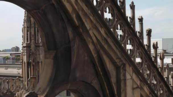 Milan, Italy - May 2016: view from Duomo Cathedral