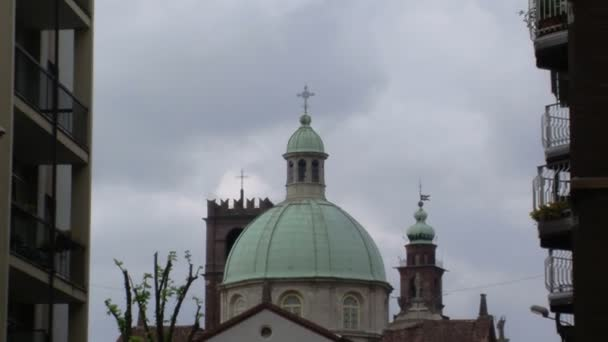 View of Cathedral Dome and Bramante Tower, Vigevano, PV, Italy