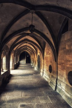 Cloister of Maulbronn, former Cistercian abbey, UNESCO world cultural heritage, Black Forest, Baden Wuerttemberg, Germany