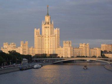 Residential house on Kotelnicheskaya embankment. High-rise build