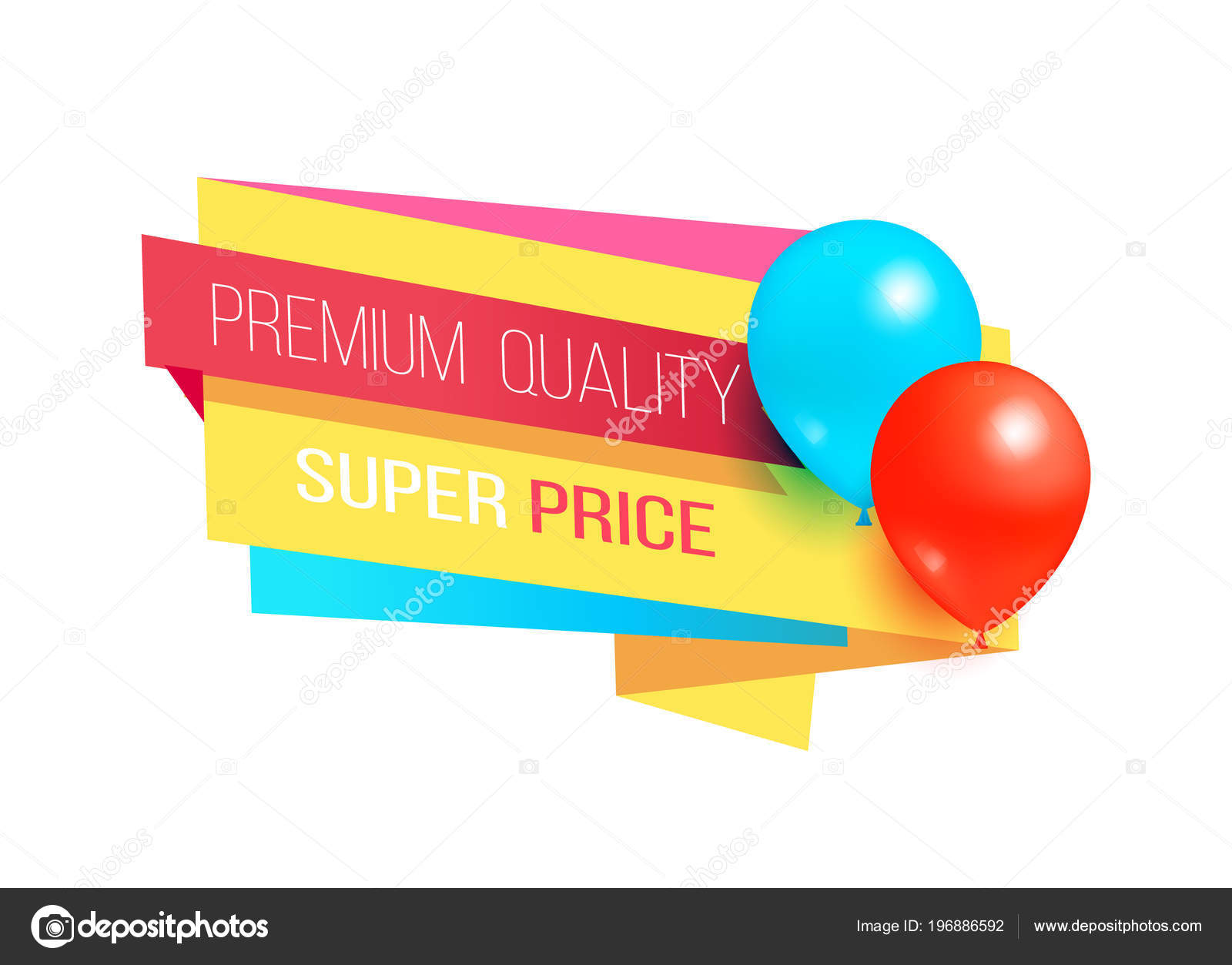 Premium Quality Super Price Promo Label Balloons — Stock