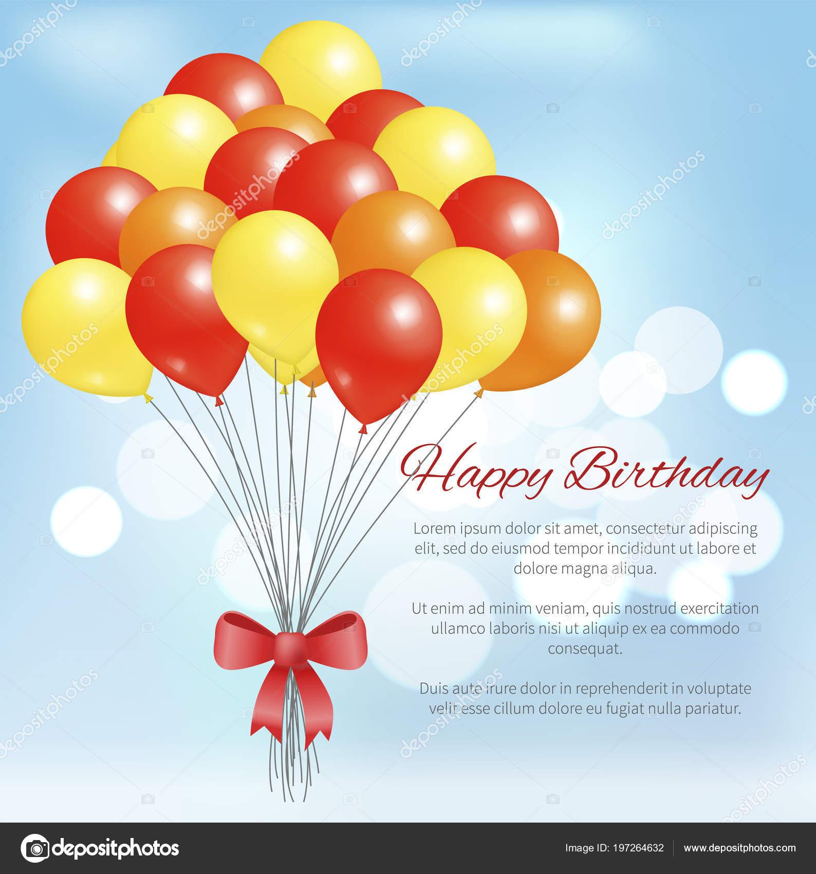 Feliz cumpleaños postal globos paquete grande partido — Archivo ...