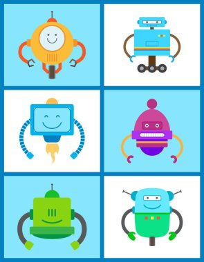 Robots Creature Collection Vector Illustration