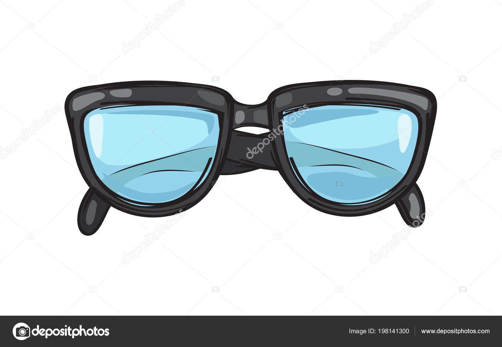 Modische schwarze Brillen Rahmen Illustration — Stockvektor ...