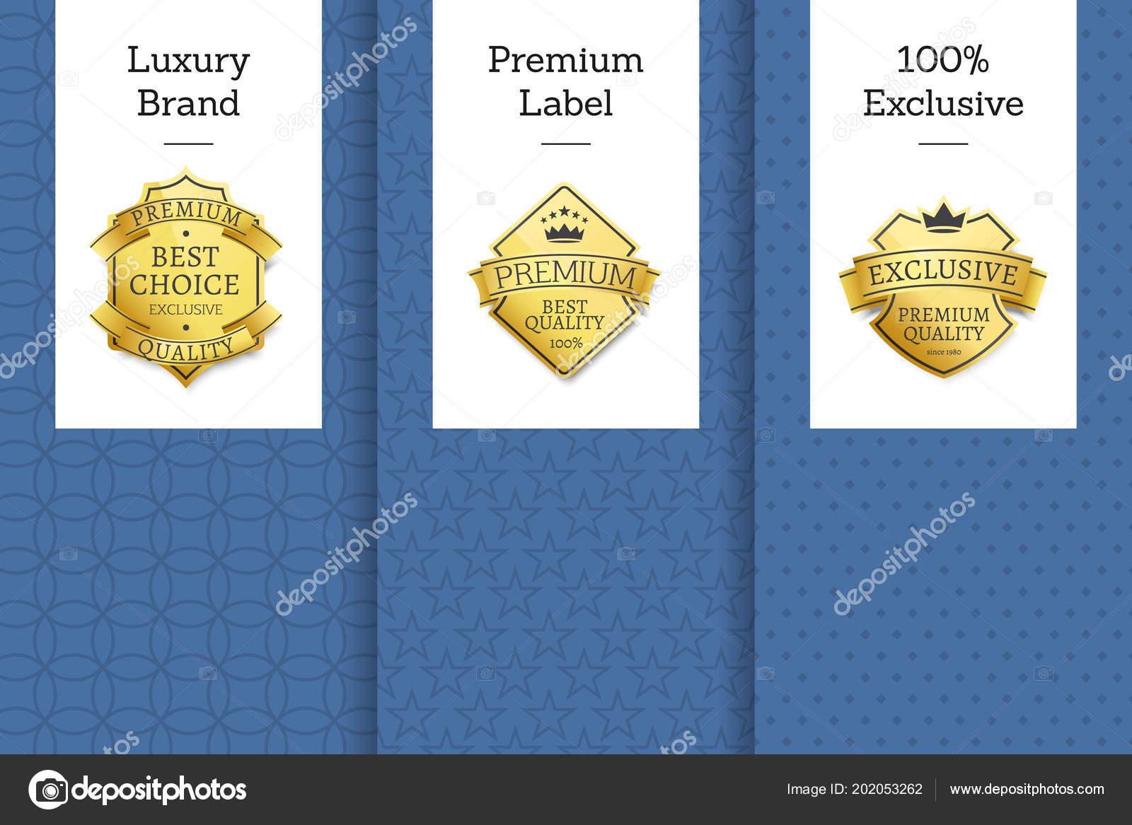 486583062940 Роскошный бренд премиум лейбл 100 эксклюзивный набор листовок, лучший выбор  для лет эксклюзивных премиум качества Золотой этикетки, награды или награды  от ...