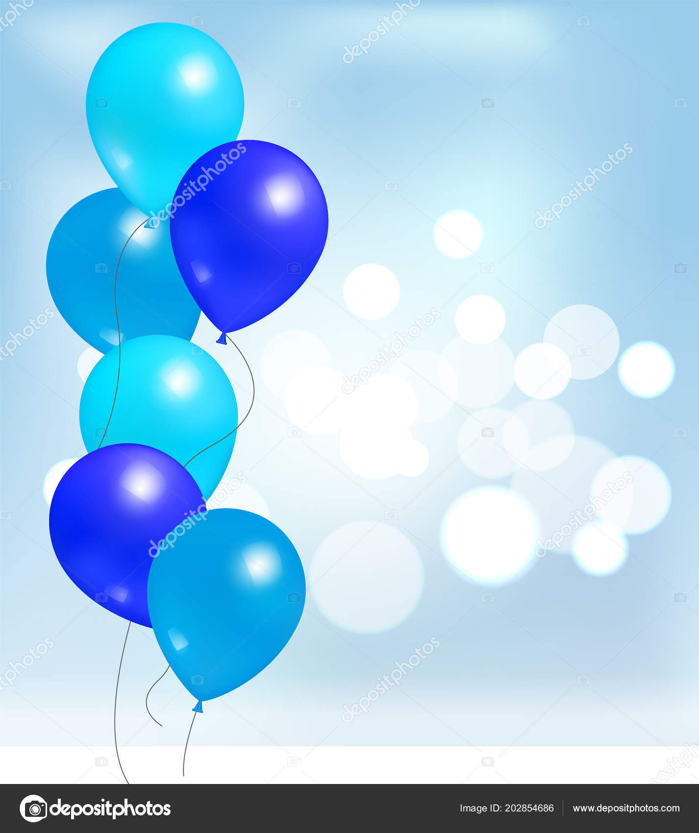 Balloons For Party Decorations Birthday Background Stockvektor