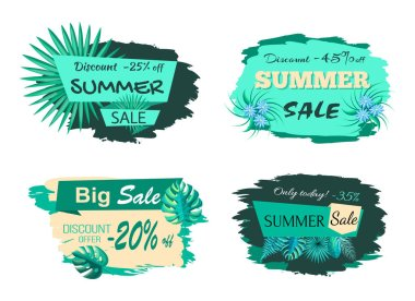 Summer Sale Collection Poster Vector Illustration