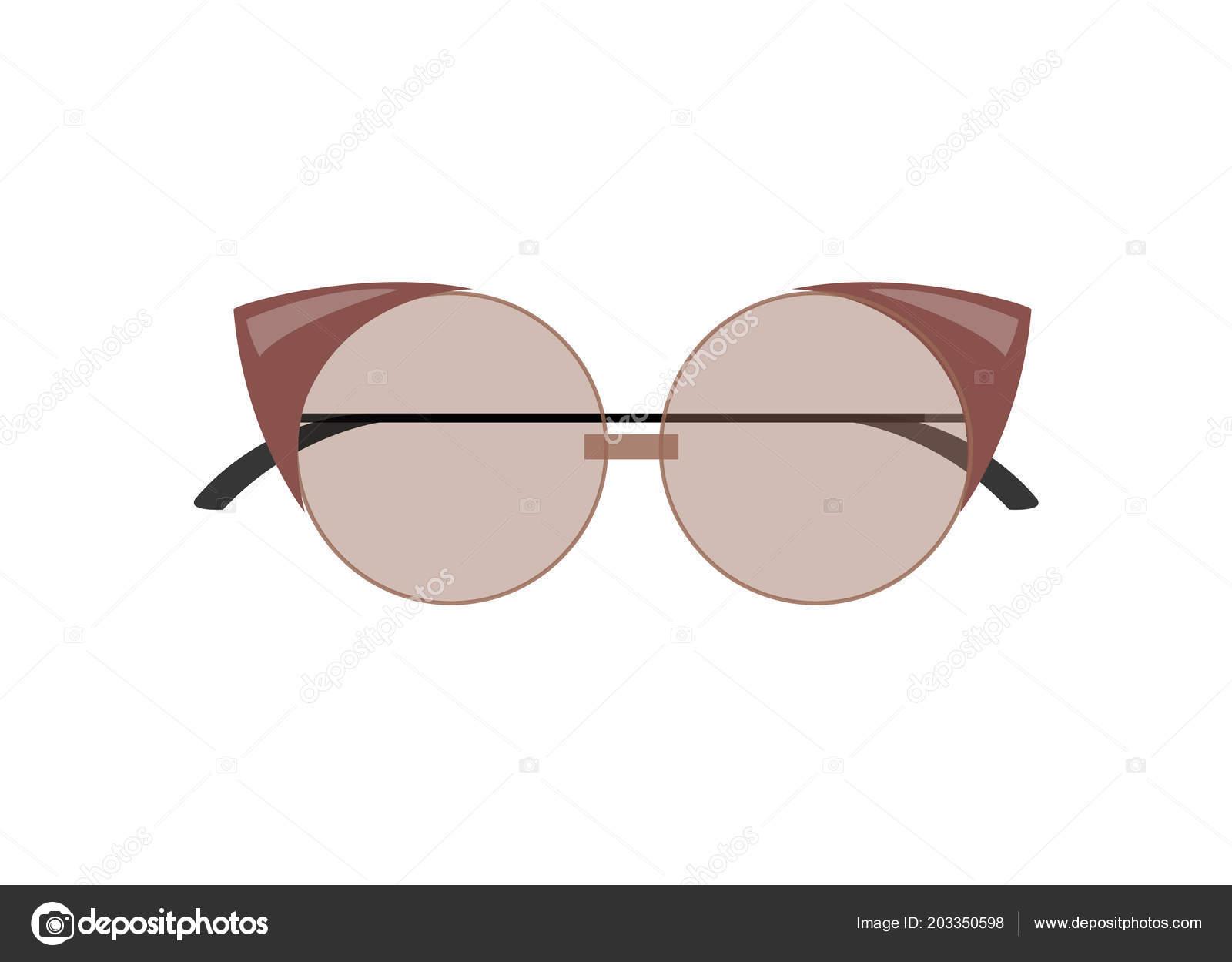 Gafas de sol con estilo ojo de gato femenino de forma redondeada ...