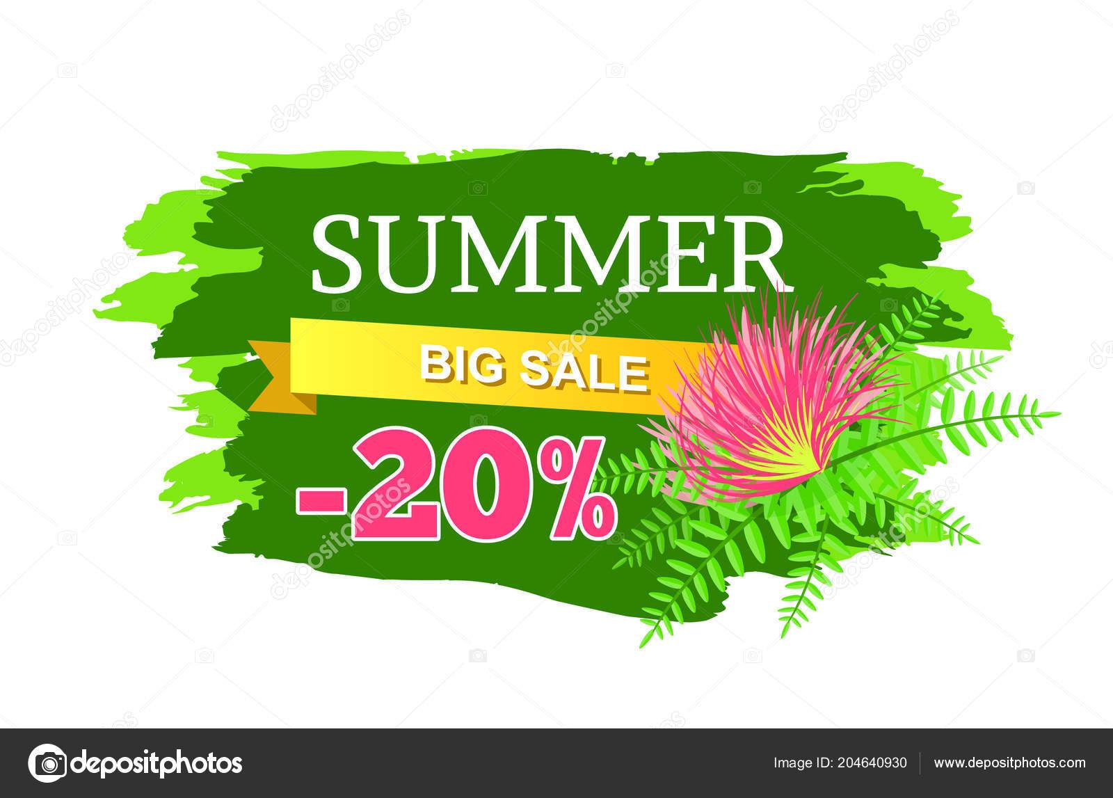 1166e66b965 Letní výprodej 20 vypnout reklamu Label květ — Stock Vektor ...