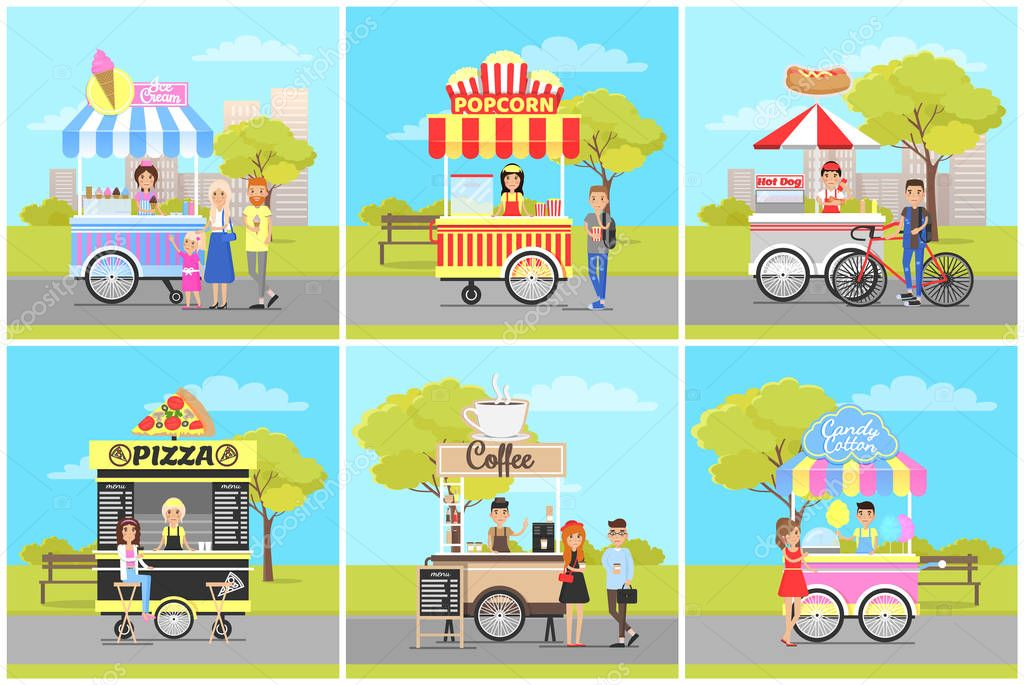 Popcorn and Ice Cream, Pizza and Coffee Carts