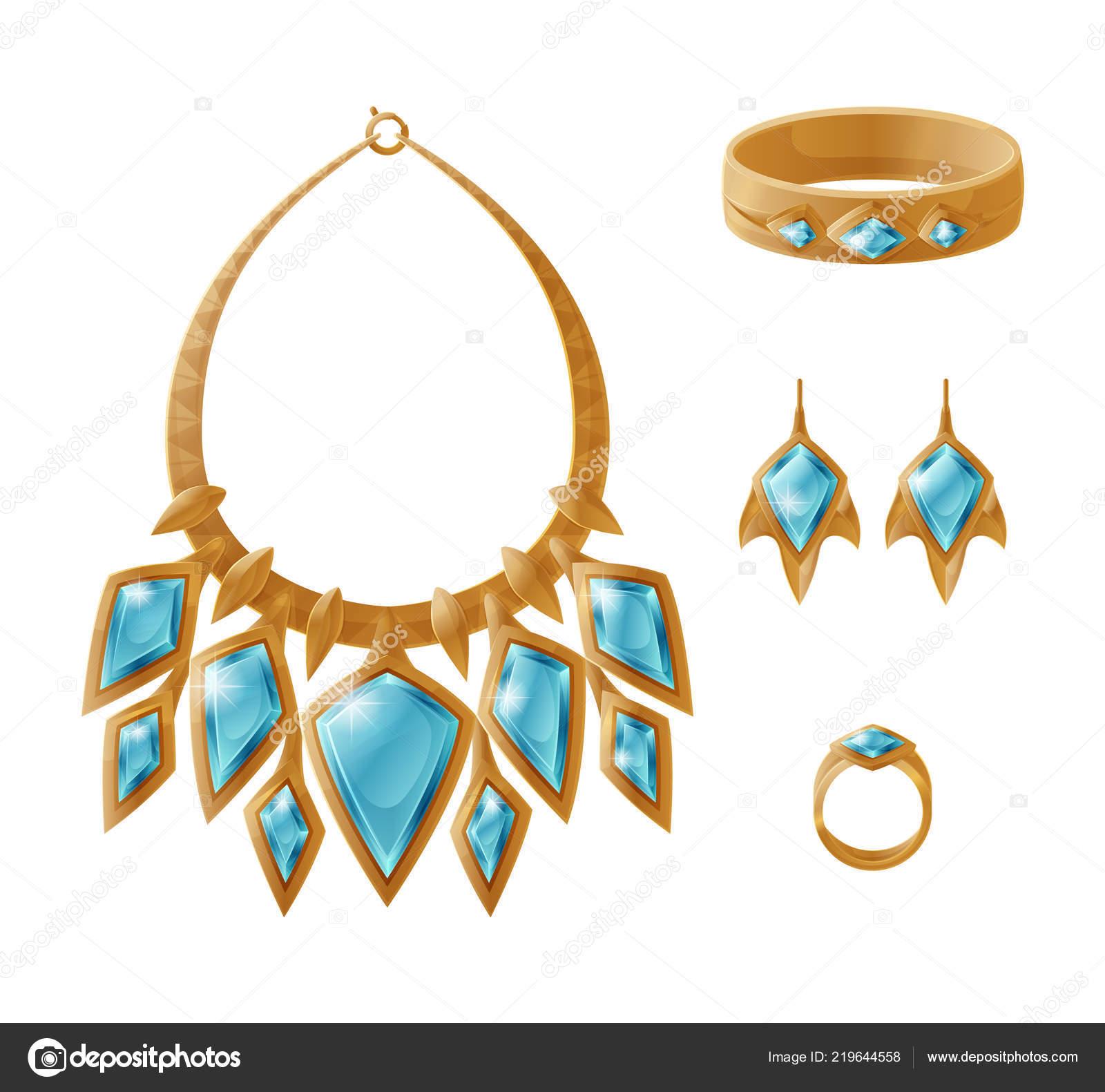 fc652833757e Oro de lujo conjunto collar