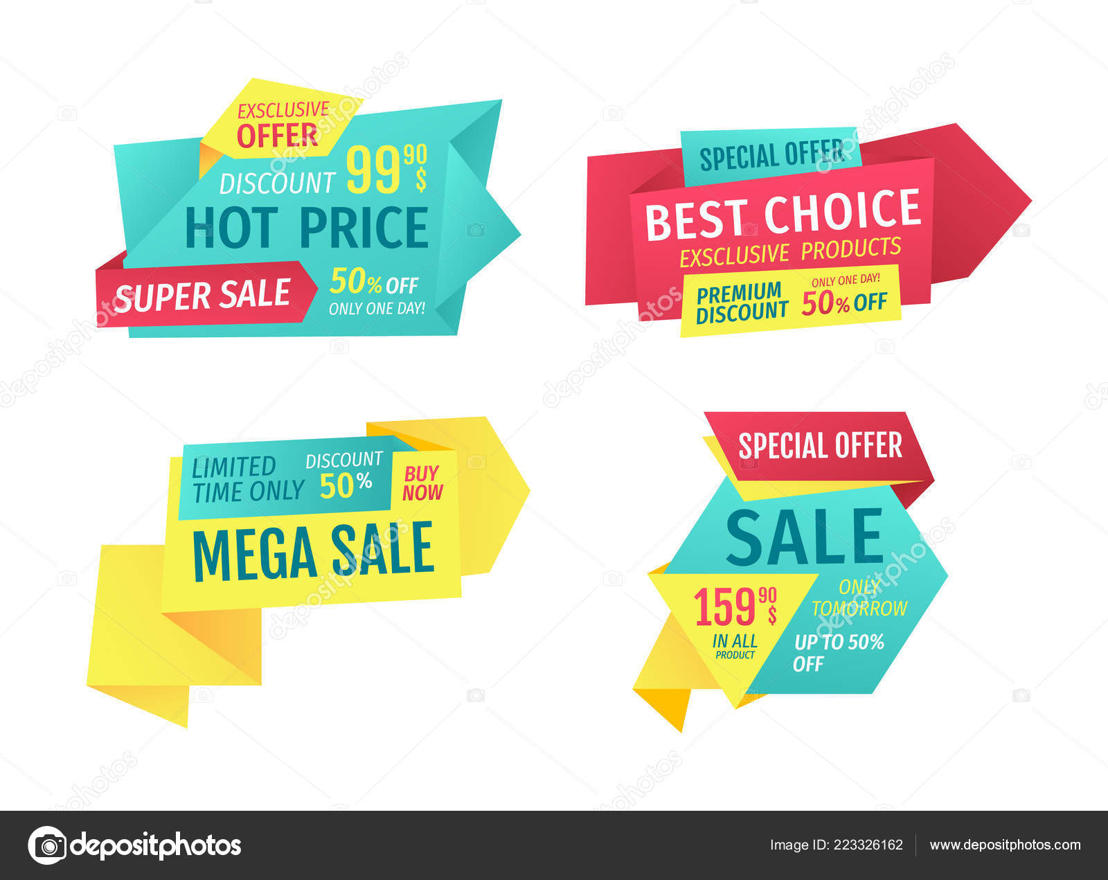 Catchphrases For Shop Sale Advertisement Banners Stock