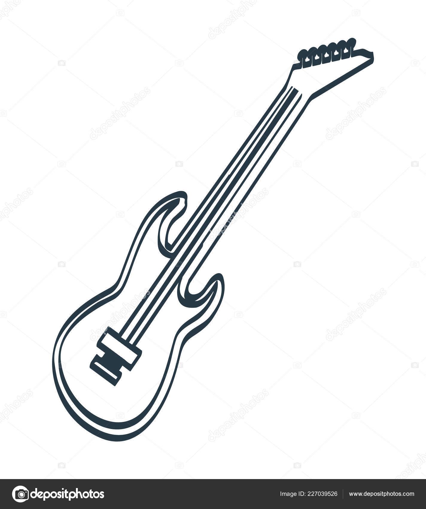 Guitare électrique Avec Cordes Instrument De Musique Image