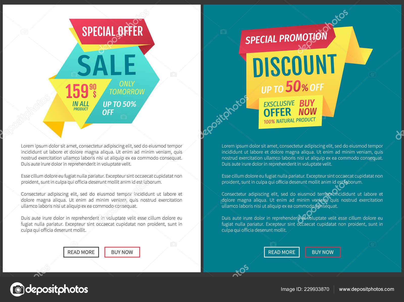 905d71fbd Cartazes de oferta especial de venda conjunto de ilustração vetorial —  Vetores de Stock