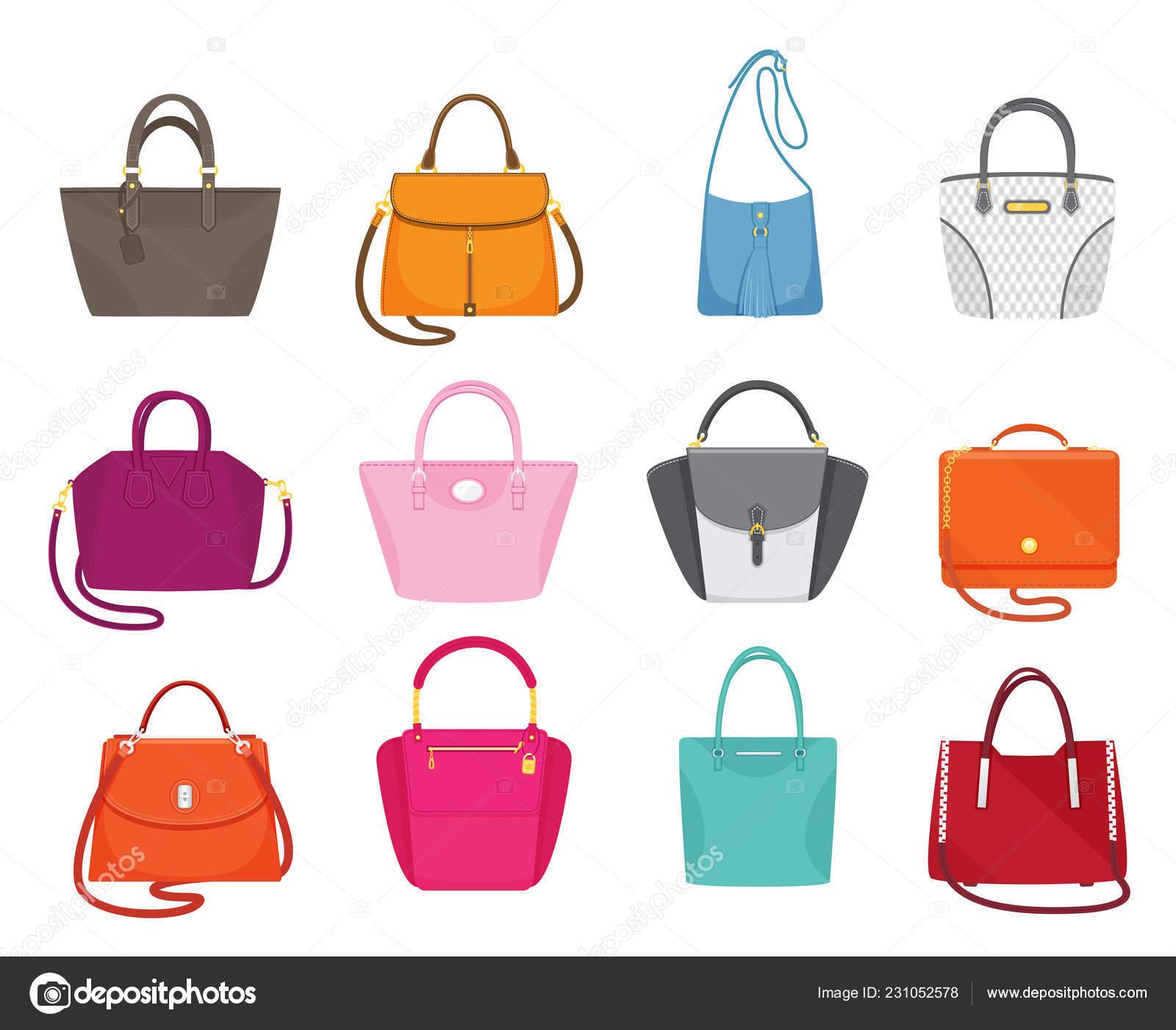 Vector Set moda colección de bolsos mujeres — Vector de stock ...