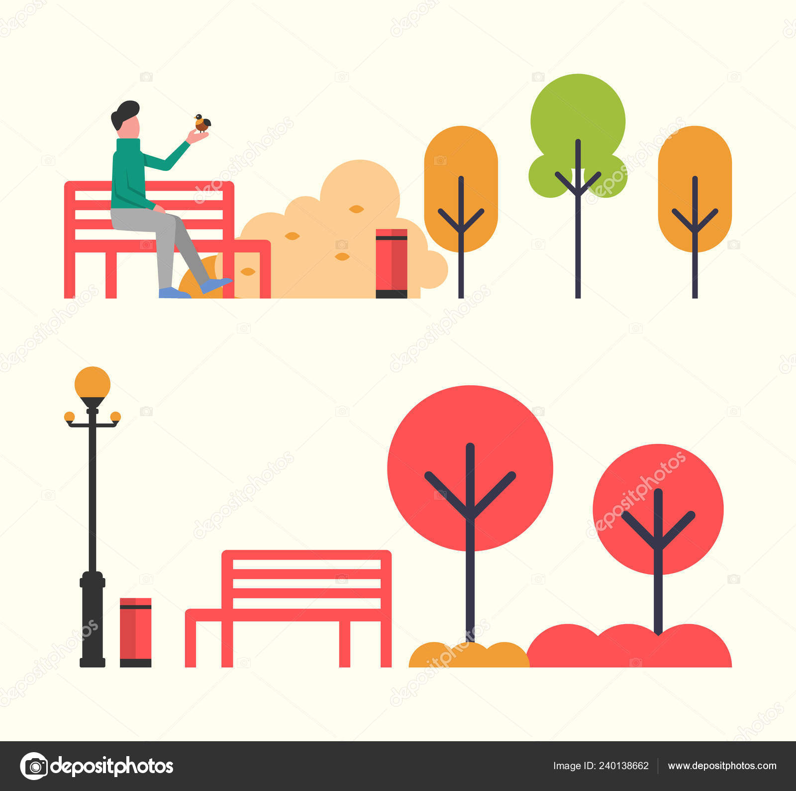 Phenomenal Man Sitting On Wooden Bench In Autumn Fall Park Stock Machost Co Dining Chair Design Ideas Machostcouk