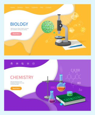 Chemistry Lessons in School, Biology Subject Set