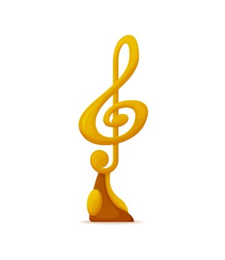 Music Award, Gold Note Nomination Trophy Icon
