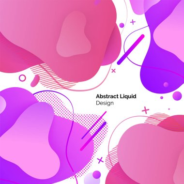 Abstract Liquid Design Set of Posters Template