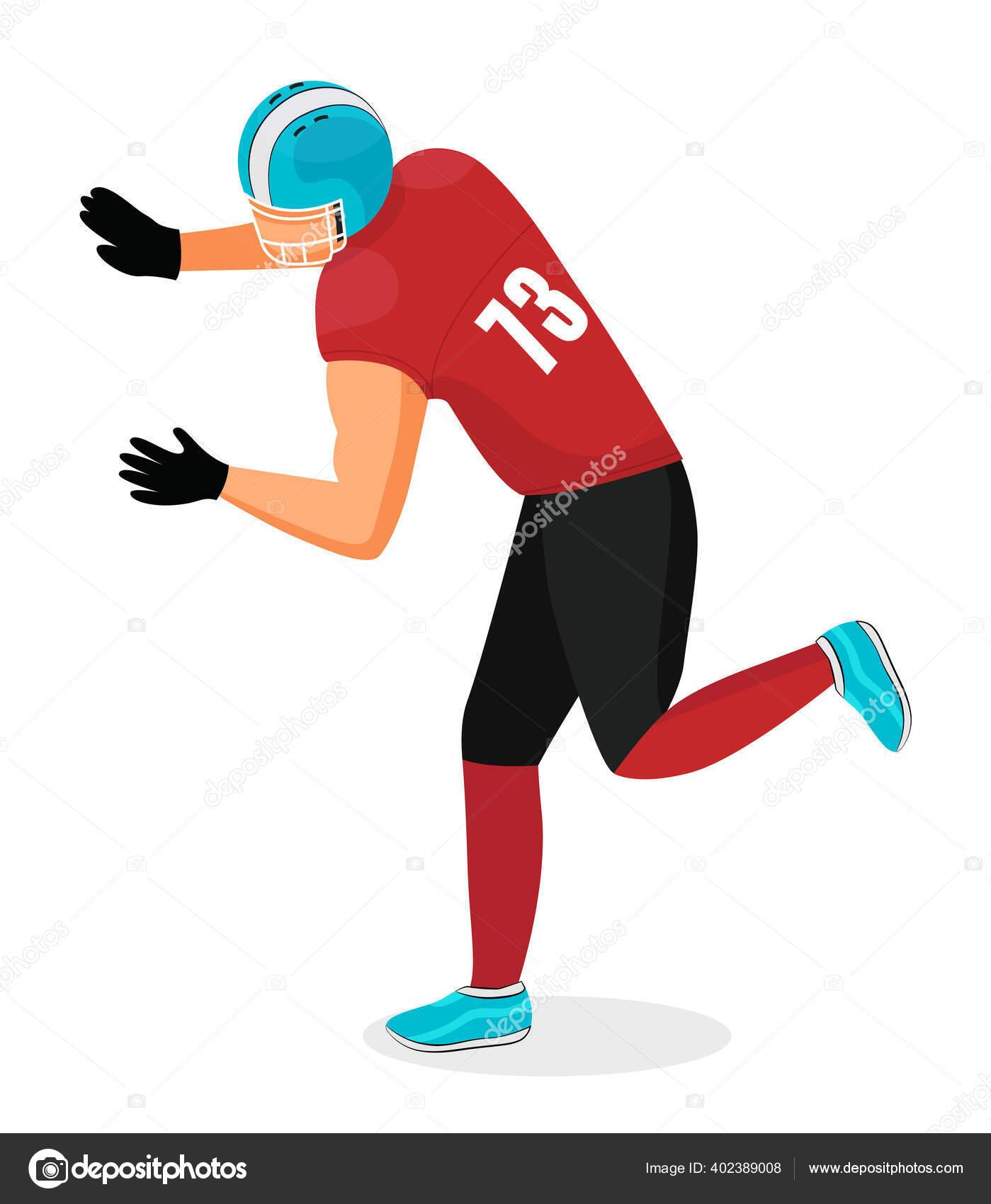 Pemain Olahraga Permainan Tradisional Sepak Bola Amerika Stok Vektor C Robuart 402389008