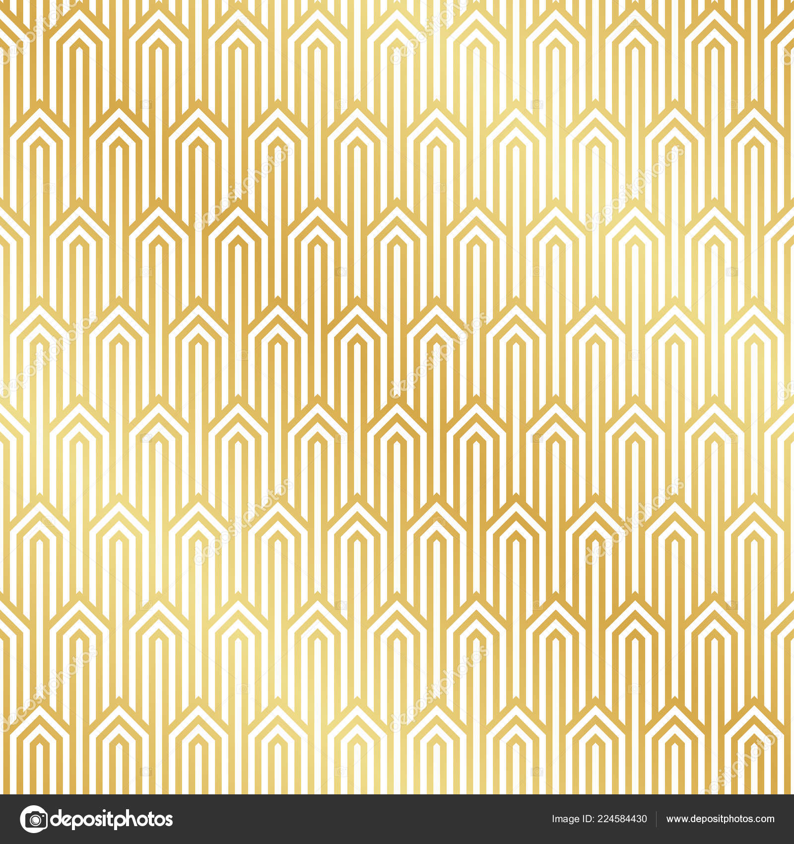 Seamless Gold Art Deco Pattern Background Art Deco Background