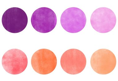 Pink and purple color palette of 8 shades