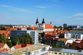 Panoramatický pohled Trnava historické centrum s svatého Jana Křtitele katedrála, Slovensko