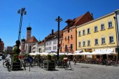 Straubing, Bayern-07. Juni 2014: Der Blick auf die hi
