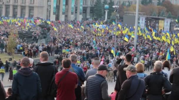 kyiv, ukraine 14 okt 2019. maidan. Höhepunkt des Protests gegen Minsker Protokoll und Steinmeiersche Formel übersehen