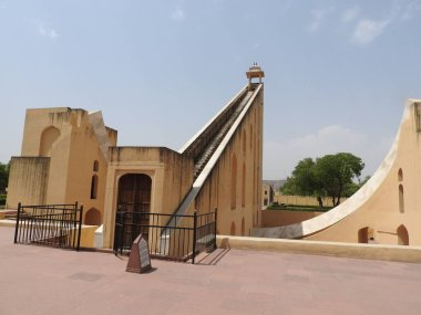 Vrihat Samrat Yantra, the world's largest sundial at Jantar Mantar in Jaipur. A UNESCO world heritage site in India,