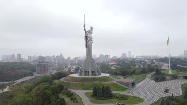Kiew, Ukraine Luftaufnahme im Herbst: Motherland Monument. Kiew